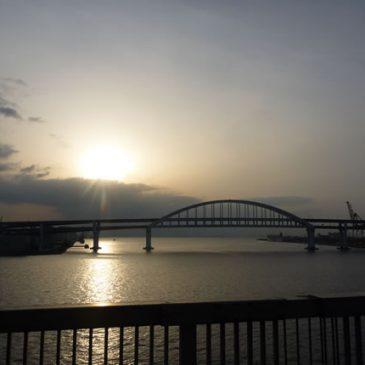 早朝サイクリング 六甲アイランド