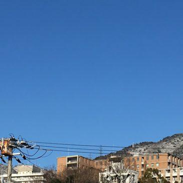 六甲山に雪が積もったので走ってきました
