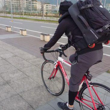 早朝サイクリング 神戸空港