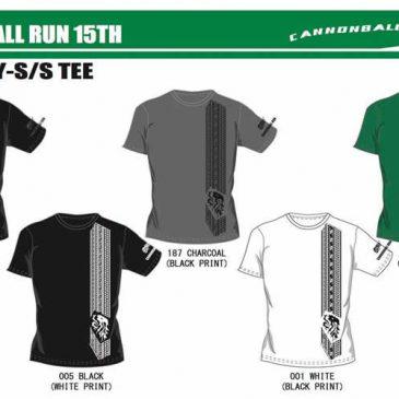 第15回キャノンボールランのTシャツ販売。締め切り近いので急いでね。